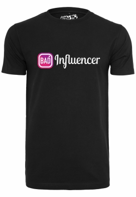 Tricou Bad Influencer negru Mister Tee
