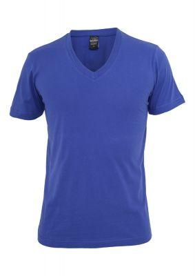 Tricou cu decolteu in V Basic albastru roial Urban Classics