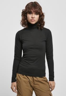 Basic Turtleneck LS pentru Femei negru Urban Classics