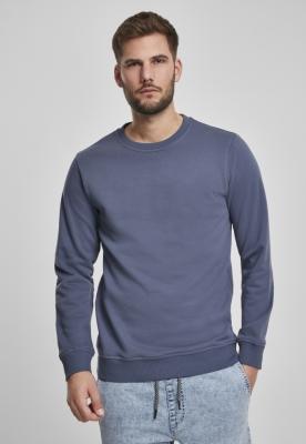 Bluza basic maneca lunga terry albastru Urban Classics