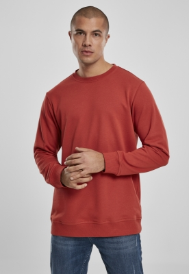 Bluza basic maneca lunga terry burned-rosu Urban Classics