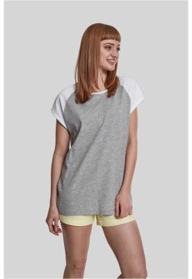 Bluza contrast pentru Femei gri-alb Urban Classics