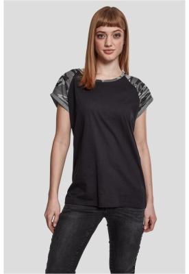Bluza contrast pentru Femei negru-camuflaj Urban Classics