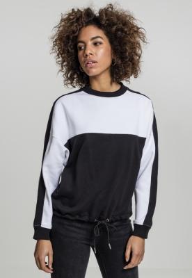 Bluza cu dungi lejer doua culori pentru Femei negru-alb Urban Classics