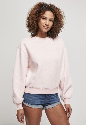 Bluza cu guler rotund supradimensionat Color pentru Femei roz-melange Urban Classics
