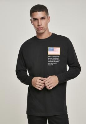Bluza cu logo NASA Worm negru Mister Tee
