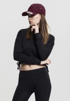 Bluza cu maneca lunga cu sireturi pentru Femei negru Urban Classics