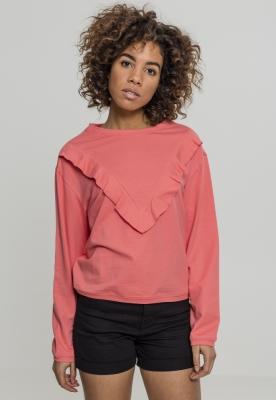 Bluza cu volane pentru Femei coral Urban Classics