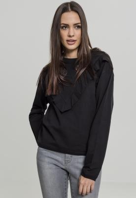 Bluza cu volane pentru Femei negru Urban Classics