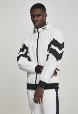 Bluza de trening Crinkle Panel alb-negru Urban Classics