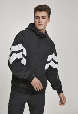 Bluza de trening Crinkle Panel negru-alb Urban Classics