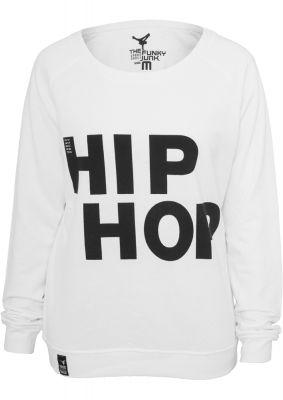 Bluze hip hop femei cu maneca lunga alb-negru Urban Dance