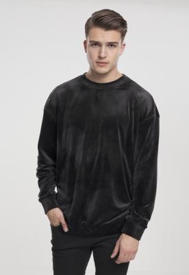 Bluza imitatie catifea negru Urban Classics