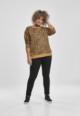 Bluza imprimeu leopard AOP pentru Femei bej-leopard Urban Classics
