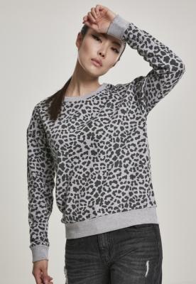 Bluza imprimeu leopard AOP pentru Femei gri-leopard Urban Classics