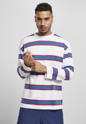 Bluza larga maneca lunga Light cu dungi alb Urban Classics sportyblue