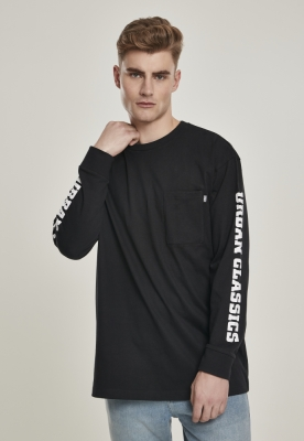 Bluza lejera maneca lunga cu logo Sleeve negru Urban Classics