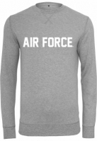 Bluza maneca lunga Air Force Lettering deschis-gri Merchcode