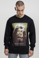 Bluza maneca lunga Bob Marley Smoke negru Mister Tee
