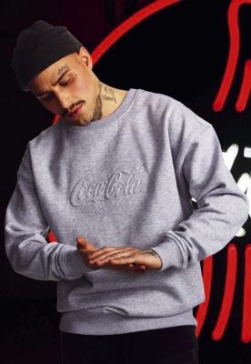 Bluza maneca lunga Coca Cola Embossed gri Merchcode