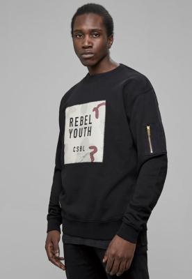 Bluza maneca lunga CSBL Rebel Youth negru-bej Cayler and Sons camuflaj