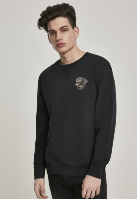 Bluza maneca lunga Embroidered Panther negru Mister Tee