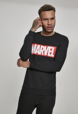 Bluza maneca lunga Marvel Logo negru Merchcode