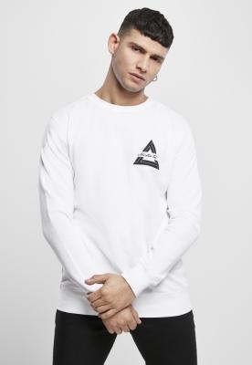 Bluza maneca lunga Mister Tee Triangle alb