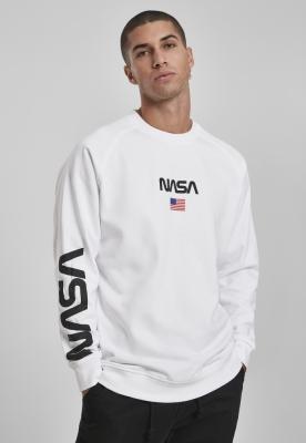 Bluza maneca lunga NASA alb Mister Tee