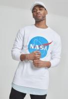 Bluza maneca lunga NASA Insignia alb Mister Tee