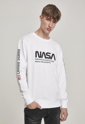 Bluza maneca lunga NASA US alb Mister Tee