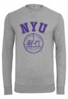 Bluza maneca lunga NYU gri deschis Merchcode