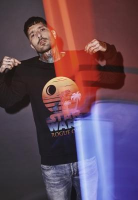 Bluza maneca lunga Rogue One Logo Sunset negru Merchcode