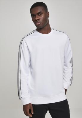 Bluza maneca lunga Sleeve Taped alb-gri Urban Classics