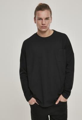 Bluza maneca lunga supradimensionat Cut On Sleeve cu buzunar negru Urban Classics