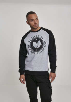 Wu-Wear Aint Nothin Crewneck gri deschis-negru