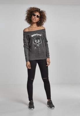 Bluza Motorhead Logo Burnout pentru Femei gri inchis