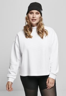 Bluza pe gat supradimensionat pentru Femei alb Urban Classics