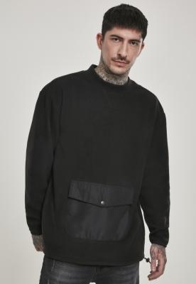 Bluza polar cu buzunar negru Urban Classics