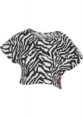 Tricouri cu maneca scurta bumbac si imprimeu zebra