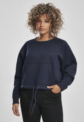 Bluza scurta oversize maneci raglan pentru Femei bleumarin Urban Classics