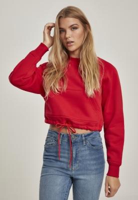 Bluza scurta oversize maneci raglan pentru Femei foc-rosu Urban Classics