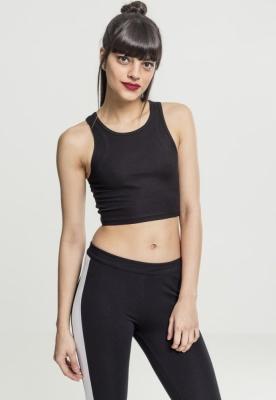 Bluza scurta Rib pentru Femei negru Urban Classics