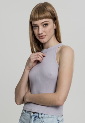 Bluza scurta Rib Turtleneck pentru Femei gri Urban Classics