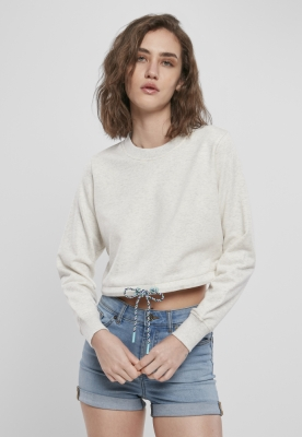 Bluza scurta supradimensionat pentru Femei gri-deschis Urban Classics