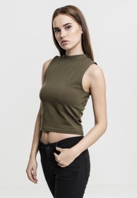 Bluza scurta tip helanca pentru Femei oliv Urban Classics