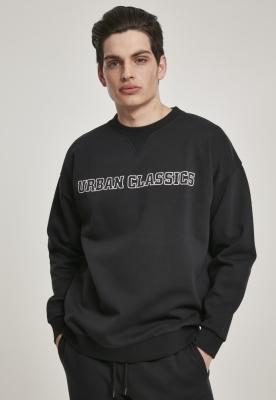 Bluza sport supradimensionata Mid Logo negru Urban Classics
