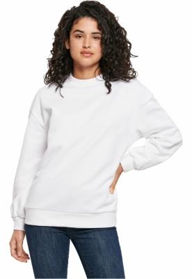 Bluza sport supradimensionata Organic pentru Femei alb Urban Classics