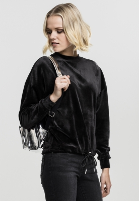 Bluza tip catifea supradimensionat pentru Femei negru Urban Classics