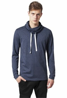 Bluze cu guler inalt cu maneca lunga negru-albastru Urban Classics
